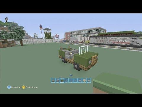 SPANKLECHANK'S Minecraft Tutorials: How to make an ARMY truck