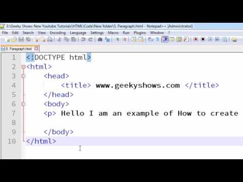 17. How to Create Paragraph using p Tag in HTML (Hindi)