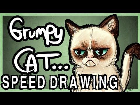 speedpaint of grumpy cat