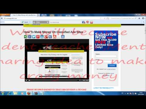 Free Website System! | Make money Posting on Free Classified