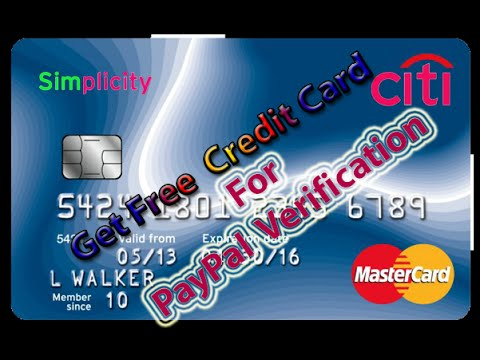 How To Get Free Virtual Credit Card  For PayPal Verification