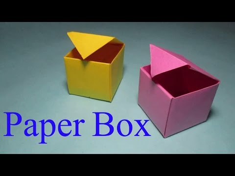 Paper Box - How To Make A Box from paper That Opens And Closes