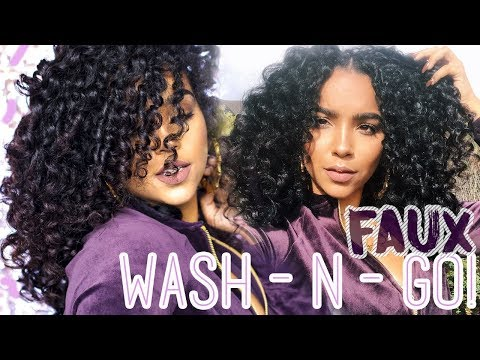 FAUX WASH N GO ROUTINE FOR DAMAGED CURLY HAIR