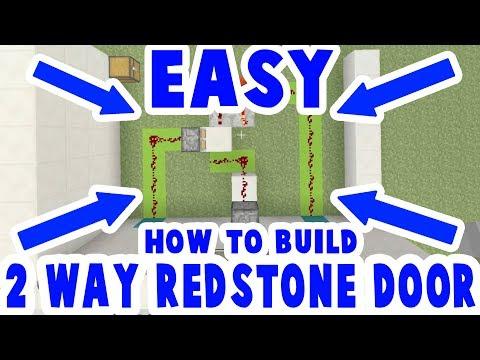 2 Way Redstone Piston Door / Bridge : Minecraft How To Build : xbox + ps3 + ps4 + switch