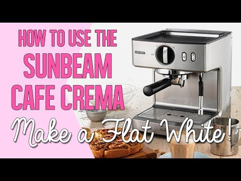 How to use the Sunbeam Cafe Crema to make a flat white coffee - Non pressurized basket hack