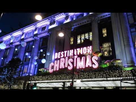 London's Oxford Street Christmas Lights + Windows + decorations