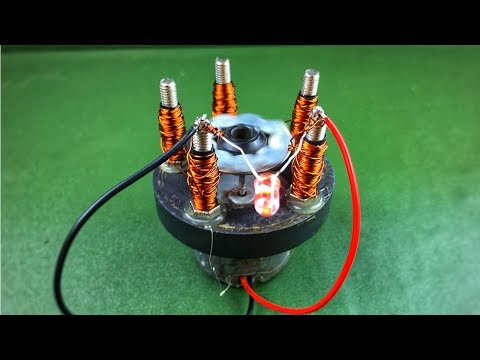 How to make free energy generator dc motor using magnet with copper wire at home