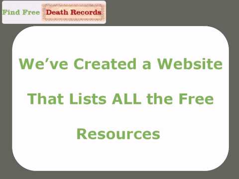 Find Free Death Records