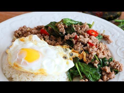 SPICY Thai Basil Pork Stir-Fry  Pad Kra Pao Moo  CiCi Li