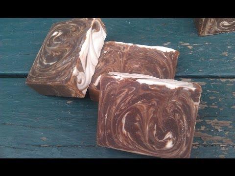 Making soap using coffee