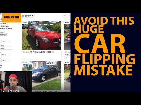 Avoid This HUGE Car Flipping MISTAKE (When Buying And Selling Cars For Profit On Craigslist)