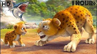 Download Children CARTOONS 2019 HD - Scary Animal Bandits - Snake, Tiger, Shark, Lion, Dinosaur Kids Video