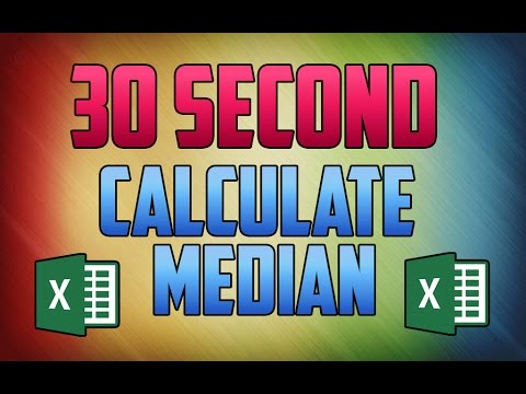 Excel 2016 : How to Calculate Median