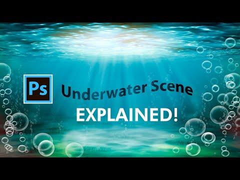 Photoshop Tutorial - How to draw a Beautiful Underwater Scene