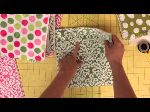 How to make squares for a rag quilt