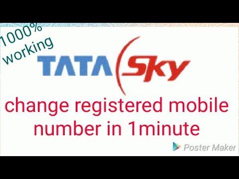 How to change rmn no. of tata sky?