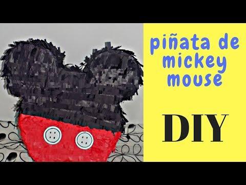 COMO HACER PIÑATA DE MICKEY MOUSE FACIL. DIY