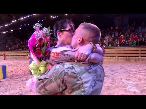 Soldier Surprises Wife at Dolly Parton's Stampede After a Year Apart