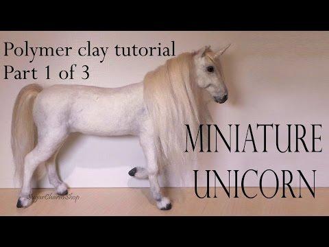Polymer Clay Horse / Unicorn Tutorial Pt. 1 - (Head)