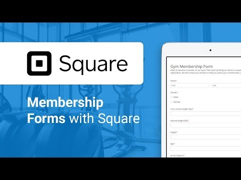 Creating a Membership Form with Square integration