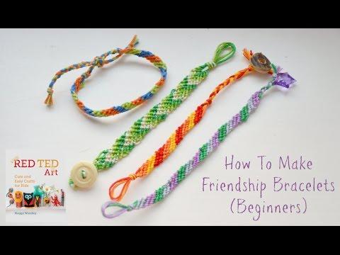 How to Make DIY Friendship Bracelets Beginners (Diagonal Pattern)