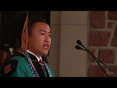 Bill Feng, Class President,  Commencement 2018