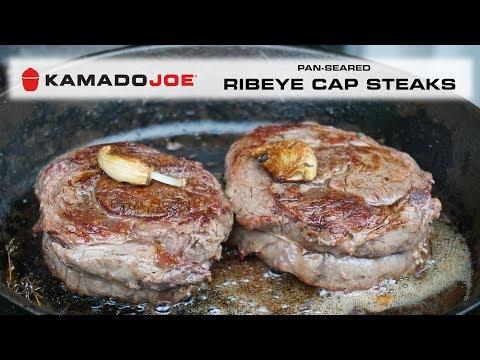 Kamado Joe Pan-Seared Ribeye Cap Steaks