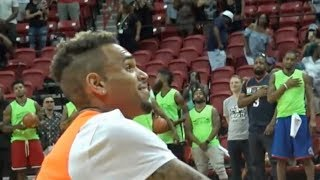 Download Chris Brown impressed by Wanya singing the National Anthem at Charity Basketball Game Video