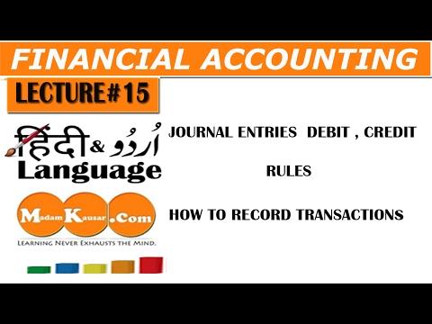 Journal Entries Basics Accounting in Urdu/Hindi