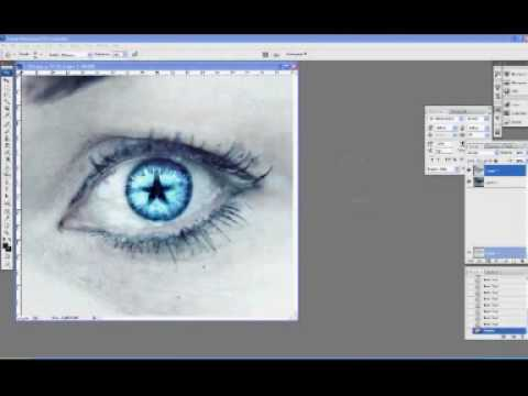 eye tutorial-frozen star