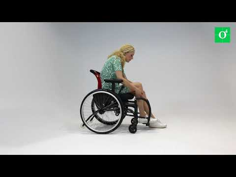 O4 WheelChairs leg supports with controls within arm's reach