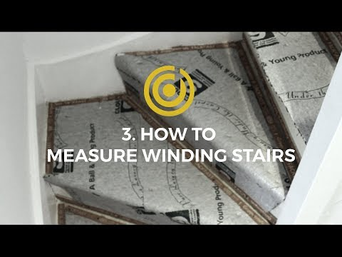 Designer Carpet Measuring Videos 3 - How To Measure Winding Stairs