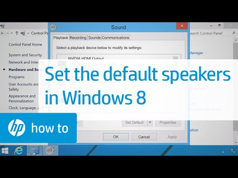 Setting the Default Speakers in Windows 8