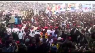 Mammoth crowd at Buhari's Kano Rally