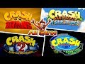 Crash Bandicoot All Intros - Evolution (1996-2018)
