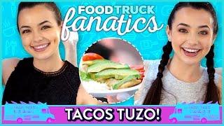 TACO CHALLENGE | Food Truck Fanatics w/ the Merrell Twins