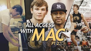 Mac McClung Can Play PIANO?! Hotel and Airport BEHIND THE SCENES at The Iverson Classic