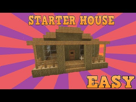 Minecraft Small Starter House Easy