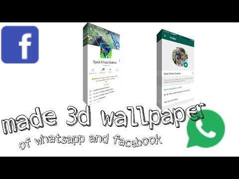Make 3d wallpaper of whatsapp and facebook profile