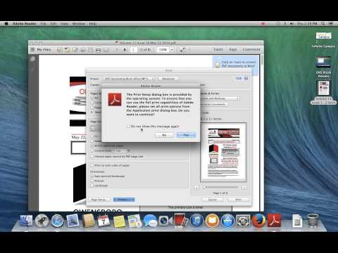 Using printer presets with Adobe Reader