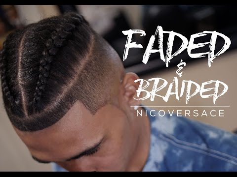 💈 FADED & BRAIDED | BRAIDED MAN BUN | SAMURAI TOP-KNOT [4KHD]