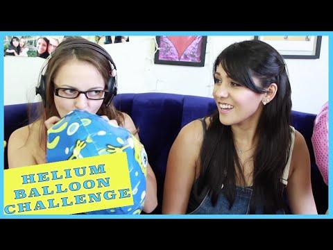 HELIUM BALLOON CHALLENGE with Nikki Limo