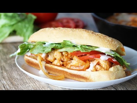 Quick and Easy Buffalo Chicken Subs