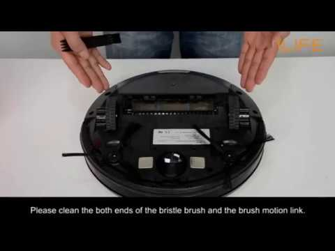 How to clean the bristle brush | ILIFE A4/s Robot Vacuum