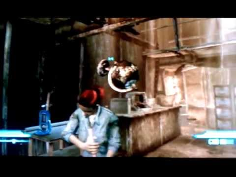 Fallout 3 - Glitch - Bouncy Globe on top of Moira Brown
