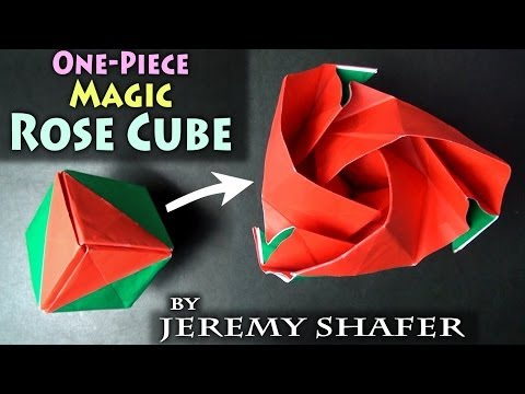 One-Piece Origami Magic Rose Cube