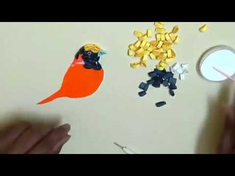 creative artwork   How to make Beautiful Yellow Bird design using Paper Art Quilling   Made Easy