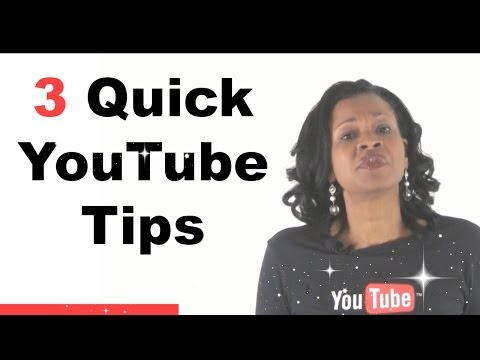 3 Quick YouTube Tips - Cool Features You Should Know
