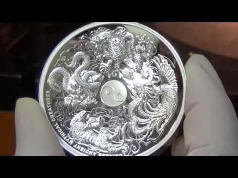 Chinese Mythical Creatures silver coin looks stunning in High Relief
