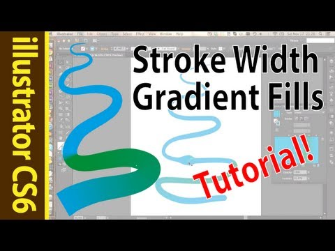Illustrator Stroke Width and Gradient Fills (CS6 Tutorial)